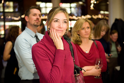 """Honoring their vendors and raising money to support their services, Denver newspaper, """"The Voice,"""" holds a holiday wine tasting at Marlow's in the Pavilion.   ©2013 Rob Clement 