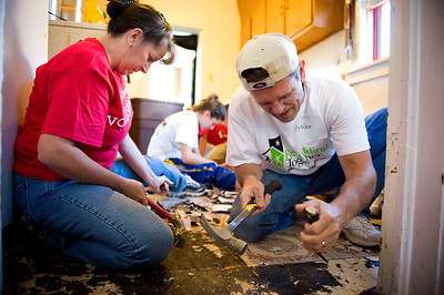 Rebuilding Together Metro Denver's Rebuild-a-thon in the historic Cole Neighborhood saw 15 homes improved by volunteers on September 21, 2013.   For information on how you or your business can help go to www.rebuildingdenver.org/  ©2013 Rob Clement | RCVisual