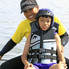 Best Day Foundation's Beach Day at Newport Aquatic Center - Angelo enjoys a relaxing paddle