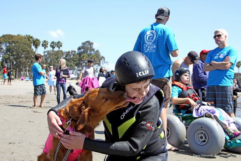 4425 Surf Dog Ricochet shows Matthew some love!