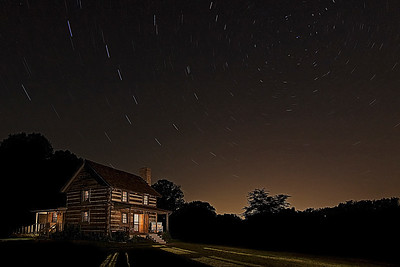 Chapel Hill House under the stars.