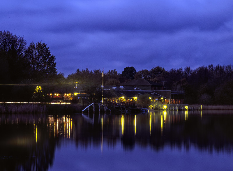 The Quays, Mytchett, Surrey. Scanned Transparency.