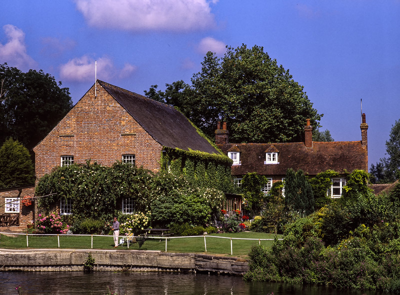 The Old Mill, Aldermaston, West Berkshire, 27th August 1998. Scanned Transparency.