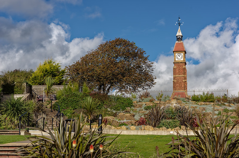 Seafield Gardens, 8th October 2015. The Clock Tower was built to commemorate the Golden Jubilee of Queen Victoria.