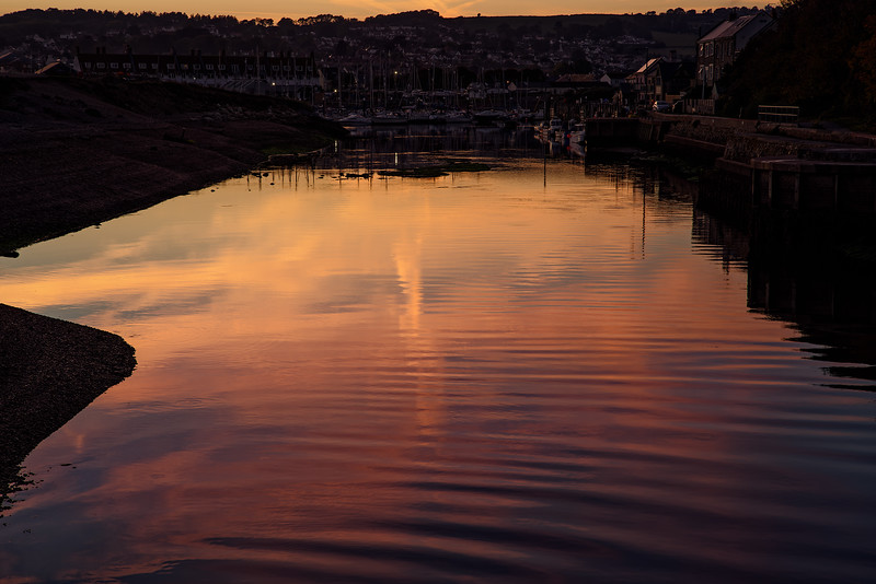 Axmouth Harbour at sunset, 3rd October 2018.