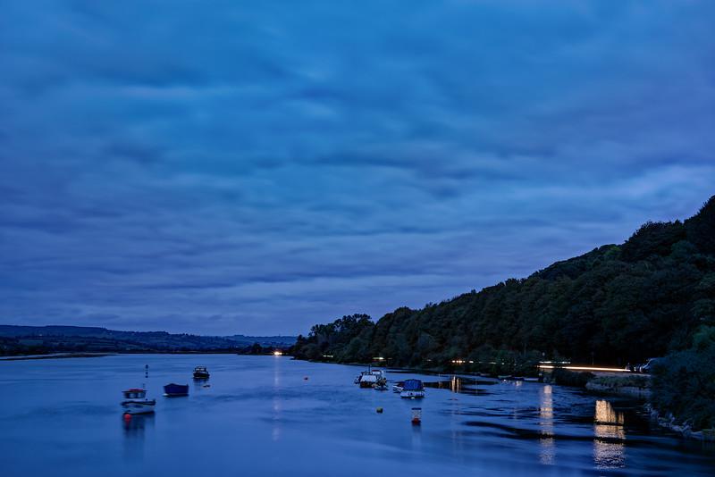 The Axe Estuary at dusk, 8th October 2018.