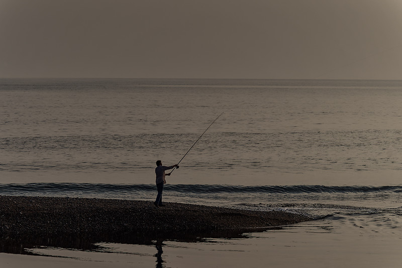 Casting out into Seaton Bay, 26th September 2017.