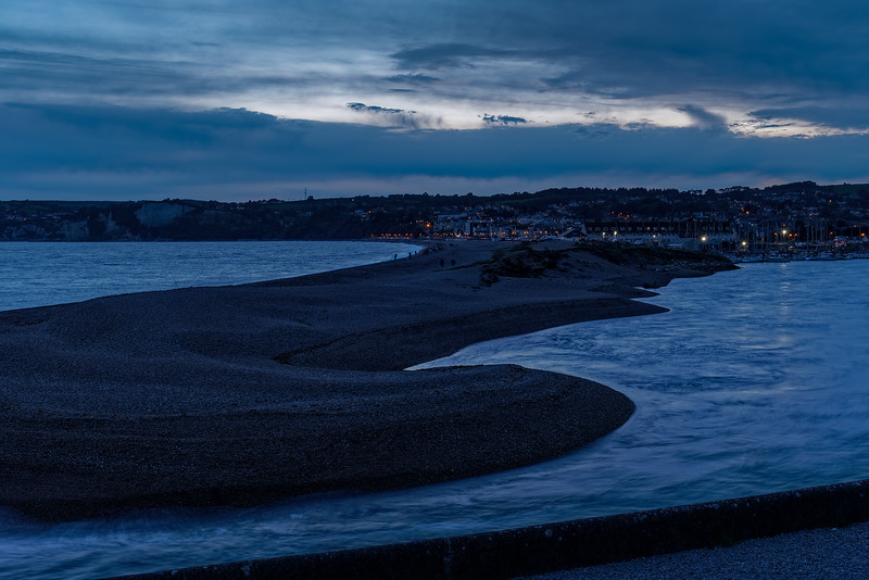 Axmouth Harbour at dusk, 23rd September 2017.