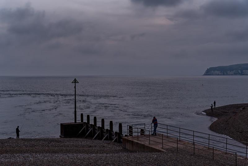 Seaton Bay at dusk, 5th October 2018.