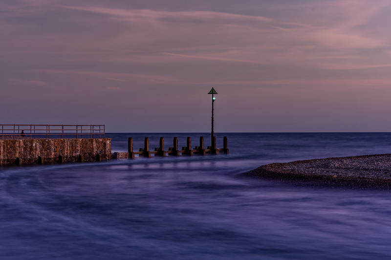 Long exposure at Axmouth Harbour entrance, 28th September 2015.