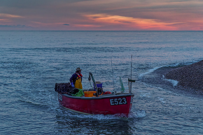 """Fishing boat """"Good Life"""" heading back into Axmouth Harbour, 7th October 2018."""