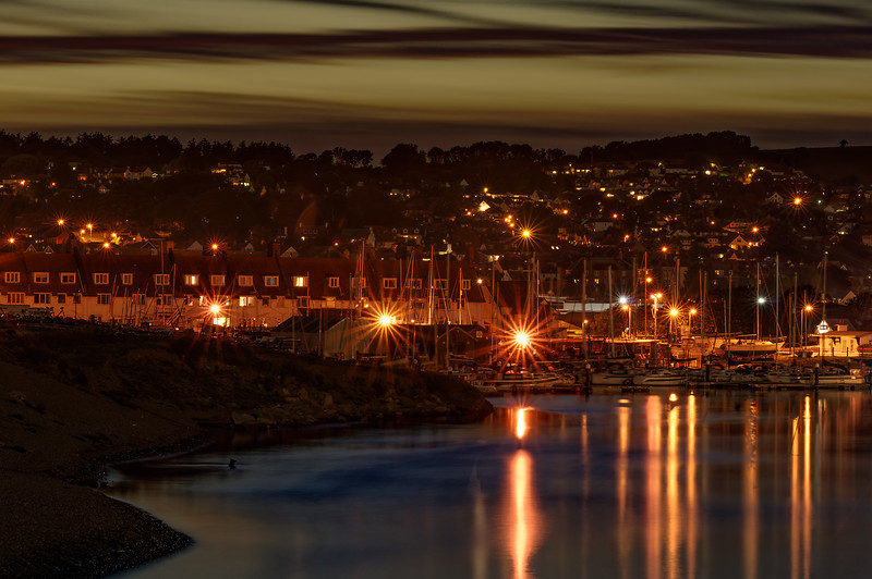 Axmouth Harbour at night, 27th September 2015.