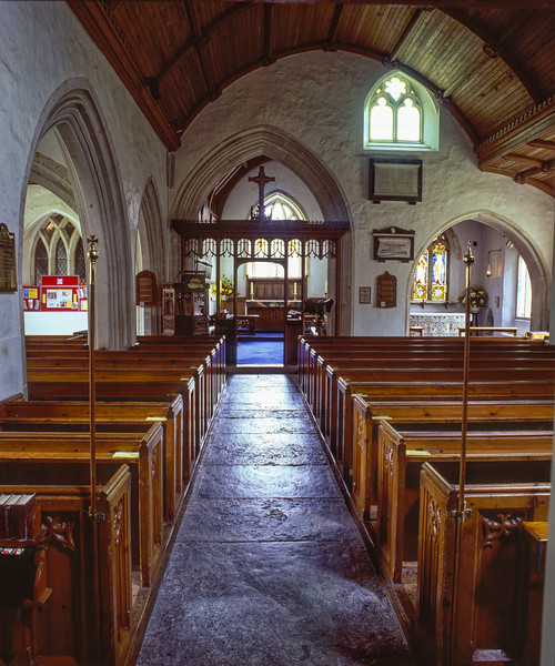 Interior of St Gregory's Church, Seaton, East Devon, 14th October 2005. <br /> Scanned Transparency.