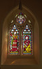 Stained Glass window in St Mary's Church, Worplesdon, Surrey. 17th April 2018.