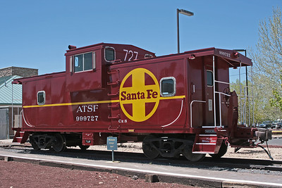 Caboose ATSF999727 at Williams AZ - Mel Rogers image used with permission