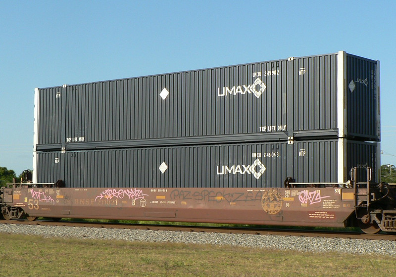 Intermodal loads - Trailers and containers - ukrailwaypics