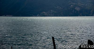 Lugano  (曇り空の下、そこだけ)陽を受けて光る水面を写真で捉えるのは難しい。
