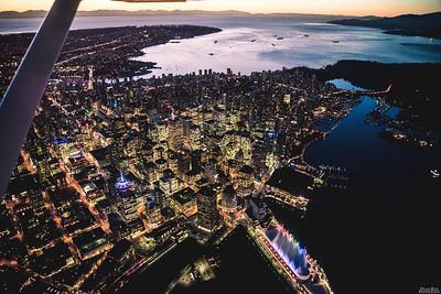 Vancouver, BC at dusk