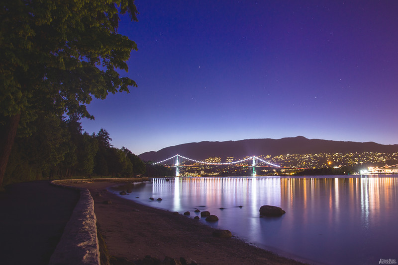 Lions Gate Bridge at twilight