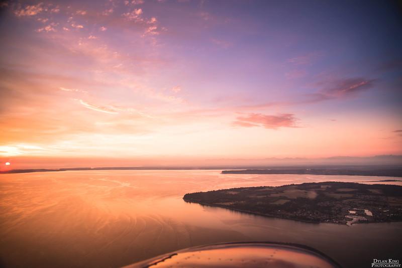 Sunset over Birch Bay, WA