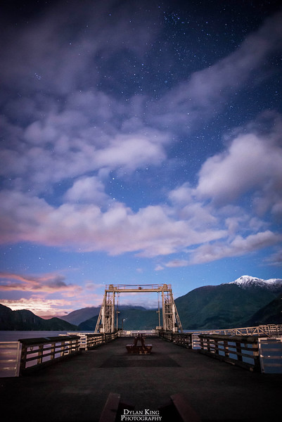 Night sky over Porteau Cove, BC