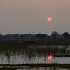 Botswana; Okavango; Sunset