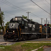 NS 5278 and CSX 2725 heading north through downtown Vineland NJ, 5-11-2017, (C) Edan Davis Photography  (2)
