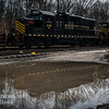 Winchester and Western CM-19 picking up a Flat Car, Saw Mill Rd  Cedarville NJ  2-19-2018, (C) Edan Davis Photography  (5)