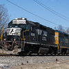 Norfolk Southern 5290 and CSX 4450 heading south crossing Sherman Ave  Vineland NJ, 2-28-2018  (C) Edan Davis Photography  (2)