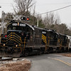 Winchester and Western 520, 445, 475 crossing Ackley Rd  Downe Twp NJ, 02-14-2018, (C) Edan Davis Photography  (2)