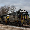 Winchester and Western CM-19 picking up a Flat Car, Saw Mill Rd  Cedarville NJ  2-19-2018, (C) Edan Davis Photography  (3)