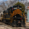 Winchester and Western SW-21 heading South through Millville NJ, with 954 leading and 576 trailing  2-21-2018, (C) Edan Davis Photography  (3)