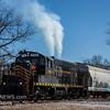 Winchester and Western 732 coming off the Railroad Ave  siding, Millville NJ, 1-31-18, (C) Edan Davis, www sjfirenews (1)