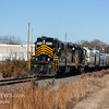 Winchester and Western 954 and 445 heading south, crossing Maple Ave  Cedarville NJ, 1-25-2018, (C) Edan Davis Photography   (2)