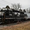 Norfolk Souther 3026 heading North through Vineland NJ, with 5625 Trailing, 02-16-2018   (C) Edan Davis Photography (3)