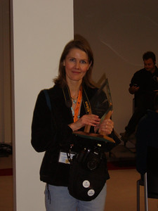 Zdenka with her award for her outstanding and amazing photography