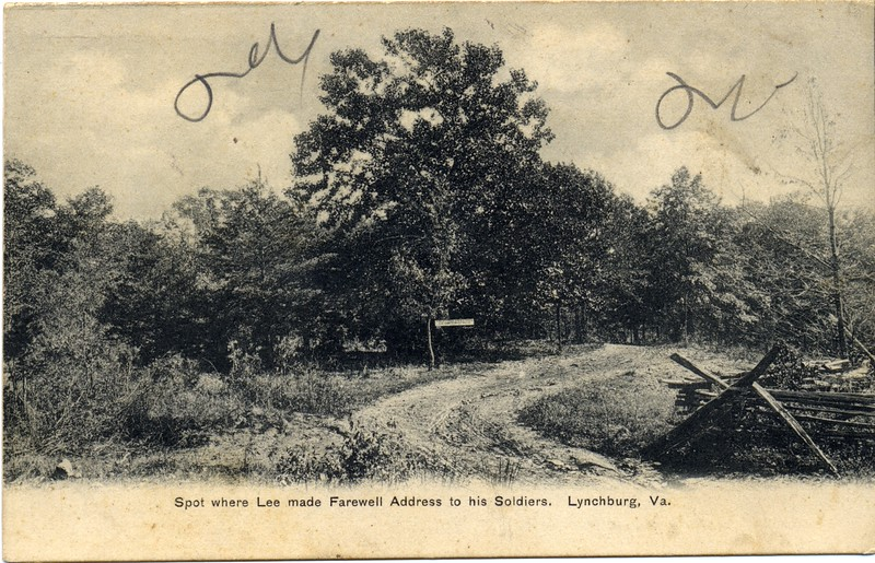 Site of General Lee's Farewell Address to his Soldiers, Postcard (03330)