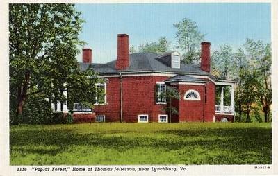 Postcard of Poplar Forest   II  (02448)