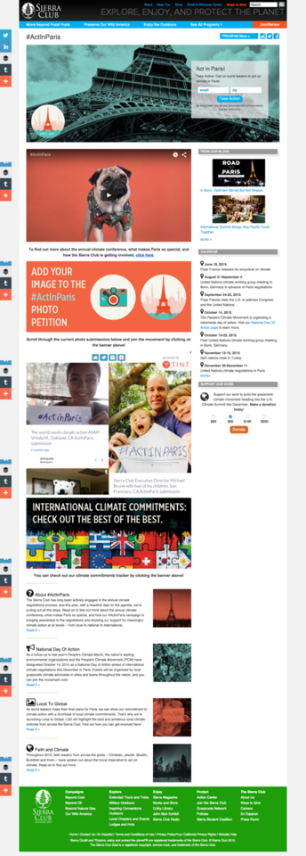 Sierra Club Paris Talks #ActInParis