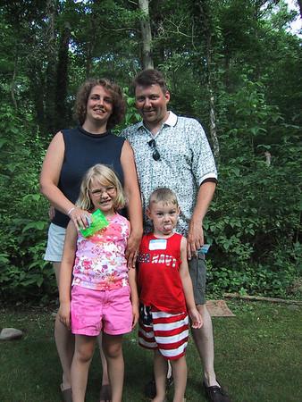 Rob & Samantha & kids 7/01