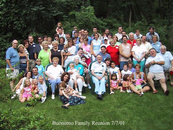 Buonomo Family Reunion 7/7/01