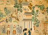 21st August 12:  Hand painted Chinese wall paper in Avebury Manor