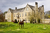 22nd Apr 12:  Nunnington Hall with one of the wicker horses