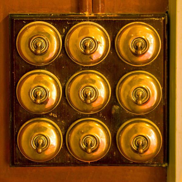 23rd Oct 11:  9 Brass switches-Hughenden Manor