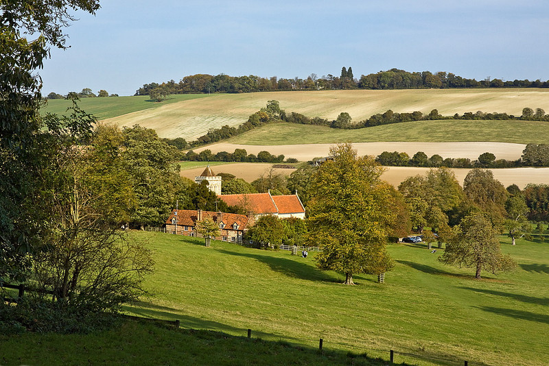 23rd Oct 11:  St Michael and All Angels church in Hughenden where Disreili is burried.  Viewed from the manor grounds