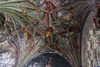 The vaulted roof in the 15th centuary Lady Chappel in 'Saint Cyriac' church in Lacock