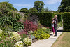 10th Jul 2015:  Sue and Pete admiring the plants at Lytes Cary Manor in Somerset