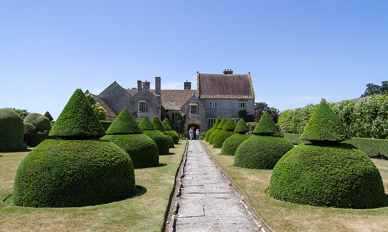 10th Jul 2015:  The walk to the front door at Lytes Cary Manor