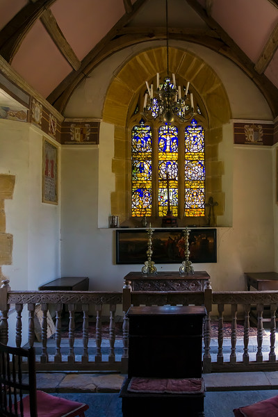 10th Jul 2015:  The very small chappel at Lytes Cary Manor