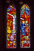21st Apr 2018:  Stained glass window in the church  at Amblethorpe Abbey on Yorkshire